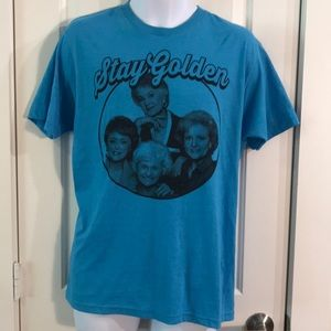 The Golden Girls Stay Golden Ringer T-Shirt Sz M